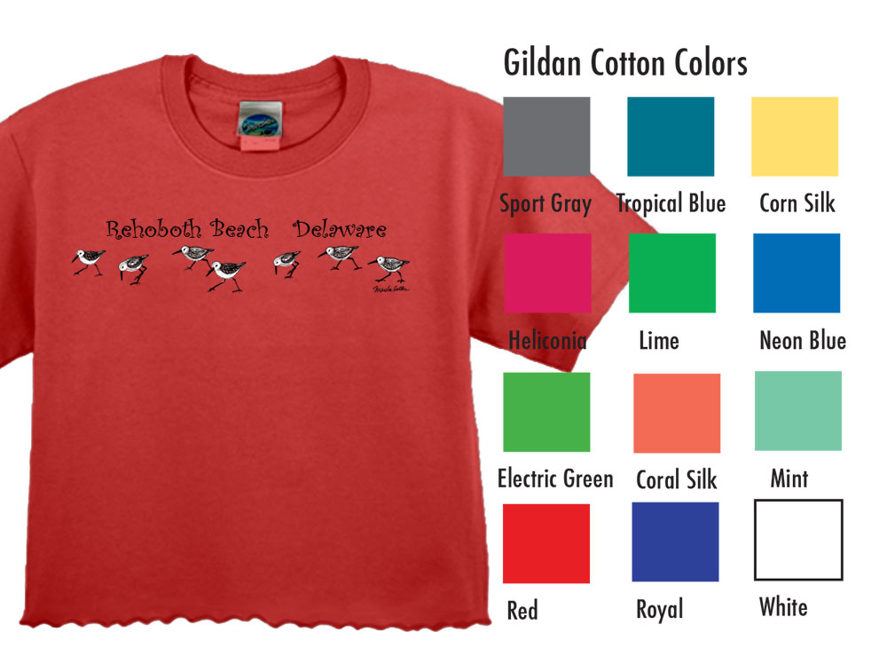 Marsha's Collection Trim T  SM-XL 9.50  XXL 11.50  5.3 Ounce Heavy Cotton Generous cut in sleeve and shoulder, hemmed to hip length with curly cover stitch