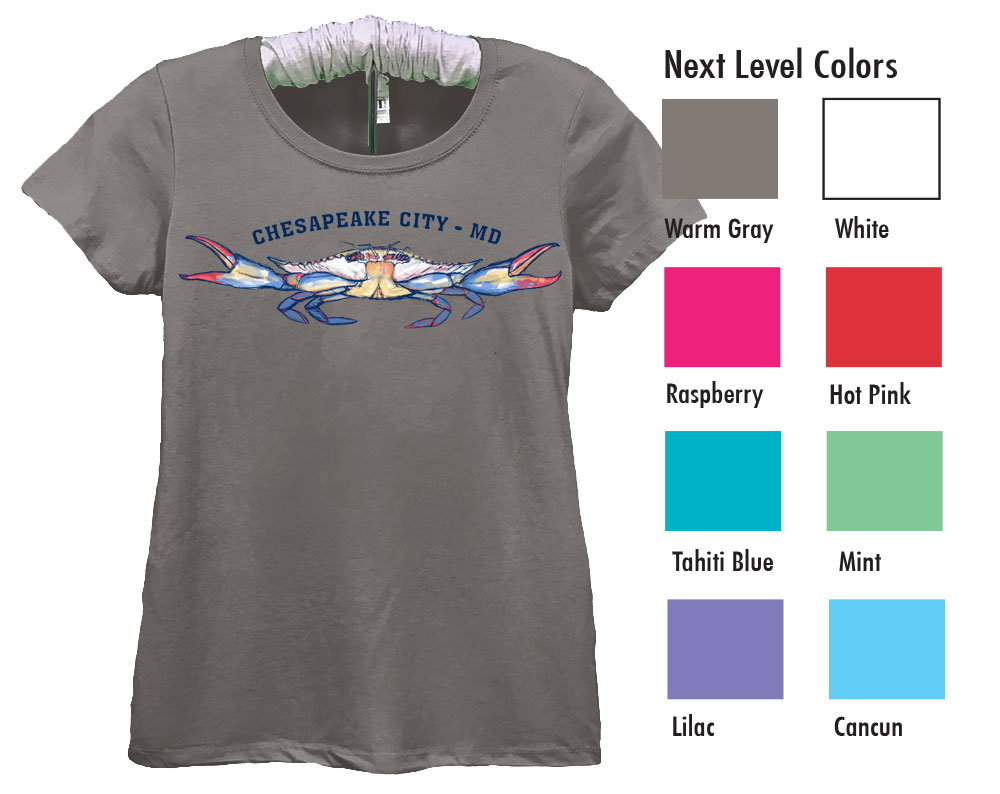 Next Level Ideal T  SM-XL 7.50  XXL 9.50  Next Level Ladies 4.0 Ounce Ideal Crewneck T-Shirt. Soft, Breathable Lightweight 60/40% Cotton/Poly 4.0 Ounce Fabric. Set-In Collar 1x1 Baby Rib With Front Cover Stitch. Tear away Label.