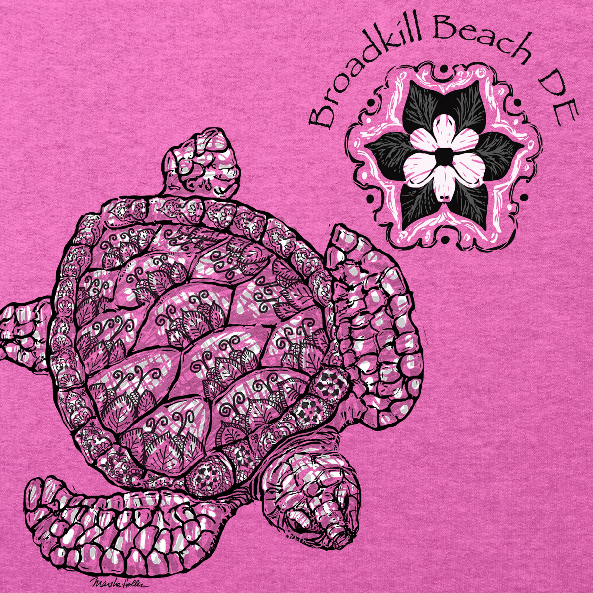 750B Turtle with Left Chest Print
