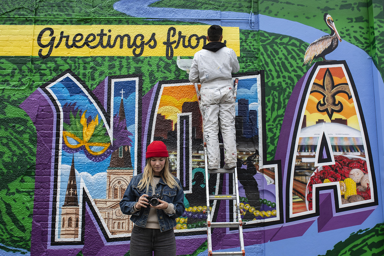 New Orleans La Greetings Tour Us Mural Artists