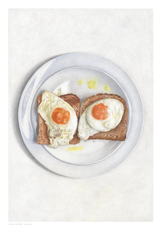 Sarah Evans - Good EggsColoured Pencil60 x 40www.mystilllife.co.uk