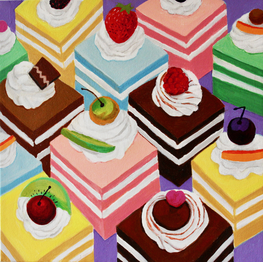 Fancy Cakes - Acrylic16 x 16