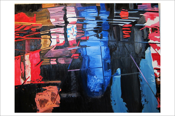 Jeff Pullen   Breathing Below Surface  Oil, Wood & Plexiglass 36 x 48