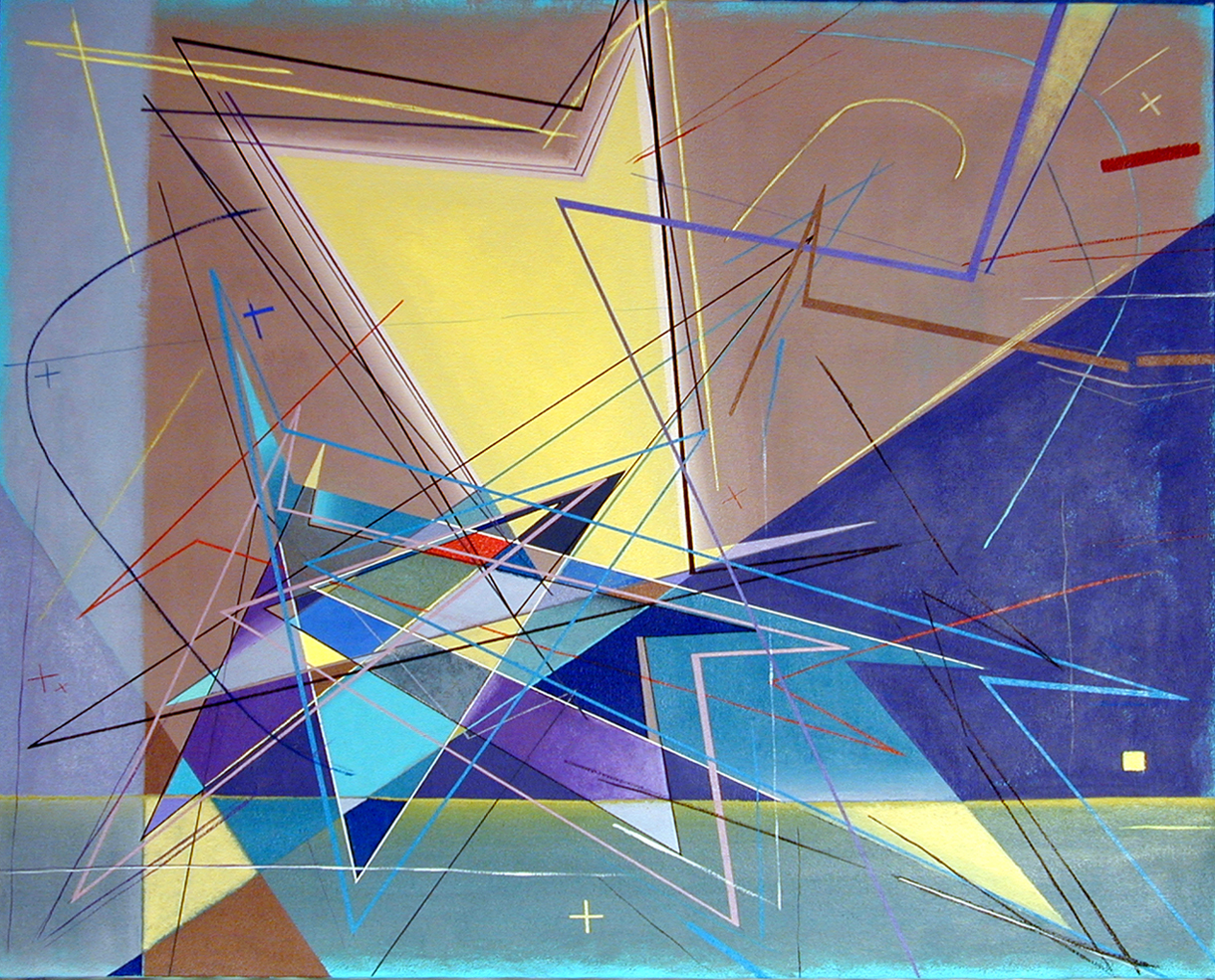 Riccardo Liotta - Honorable MentionProfessionally trained and practicing as an architect, I am inspired by physics, mathematics and geometry to produce abstract art characterized by dynamic, angular geometries, contrasting shapes, overlapping polychromatic polygons, vibrant colors, sharp lines, and graphics elements, derived from the application of mathematical formulas and geometric principles, it expresses concepts like speed, movement, energy, reflecting the changing, unstable characteristics of nature, as well as the fragmentation, uncertainty and undeterminability of life.instagram.com/riccardoliotta.art/