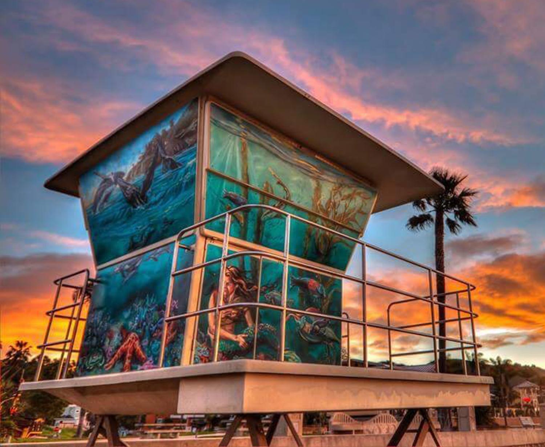 Colleen.Gnos.LifeguardTower2(Back,Mermaid).jpg