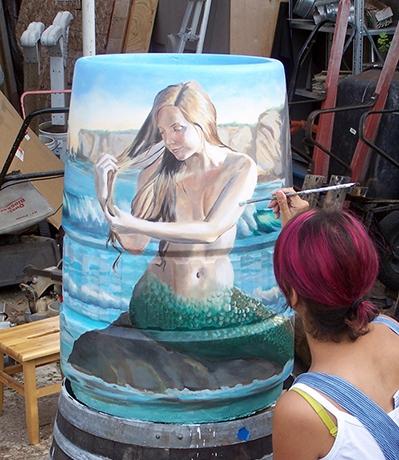 Mermaid Of Dinosaur Caves - Shell Beach Improvement Group, Public Art Commission:42x15