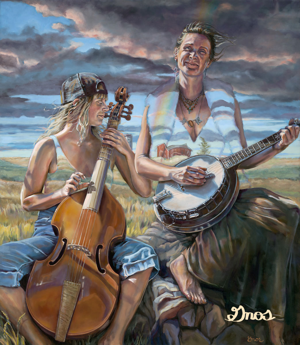 """THE SONG I CAME TO SING     OIL ON CANVAS     54X47"""""""
