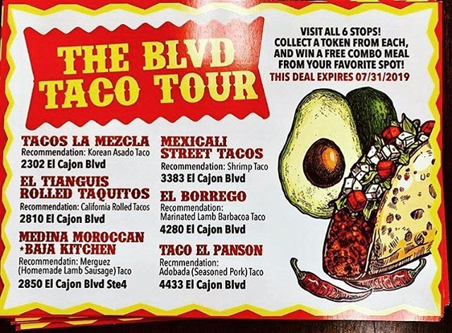 "Have you heard about ""The Blvd Taco Tour""? Don't miss out on these amazing tacos and the chance to win a meal! 🌮 #TheBlvd #Tacos #Foodie #yelpsandiego #youstayhungrysd #northparkeats #sandiegomexicanfood"
