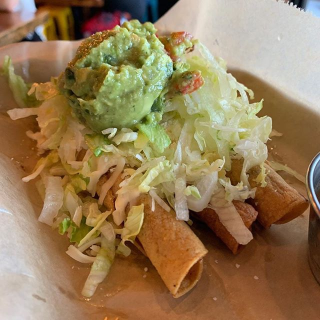 @sdfoodieculture with the up close shot.  Come get your own view of our tasty taquitos for yourself.  #sandiegorestaurants #sandiegomexicanfood #northparksandiego