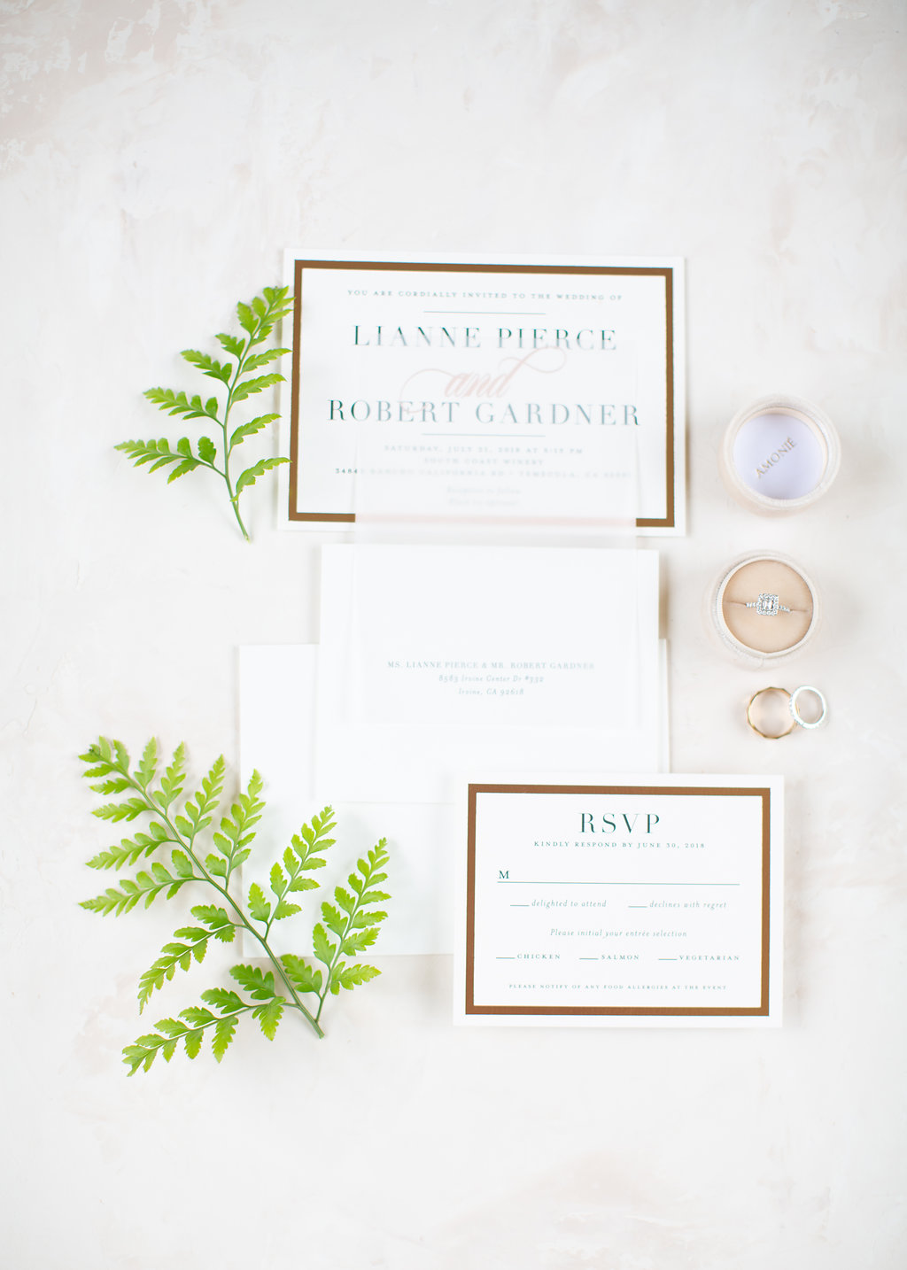 Basic Invite Invitation Suite Real Wedding Inspiration
