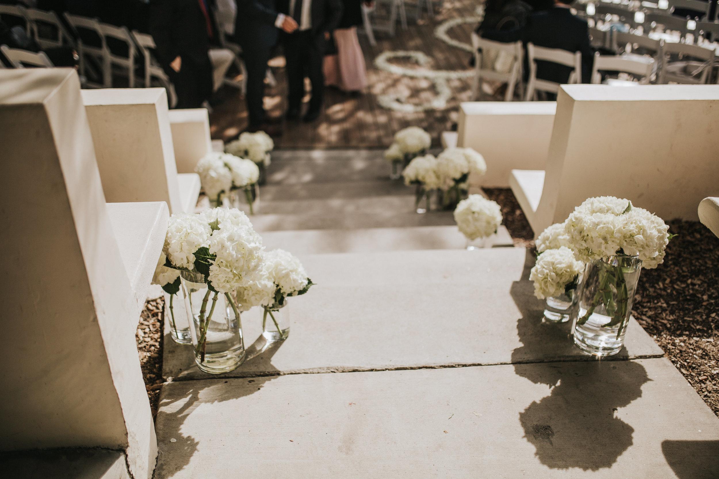 The 1909, The 1909 Wedding, Topanga Canyon wedding, Topanga Canyon, Hydrangea arrangement, hydrangea stair arrangement