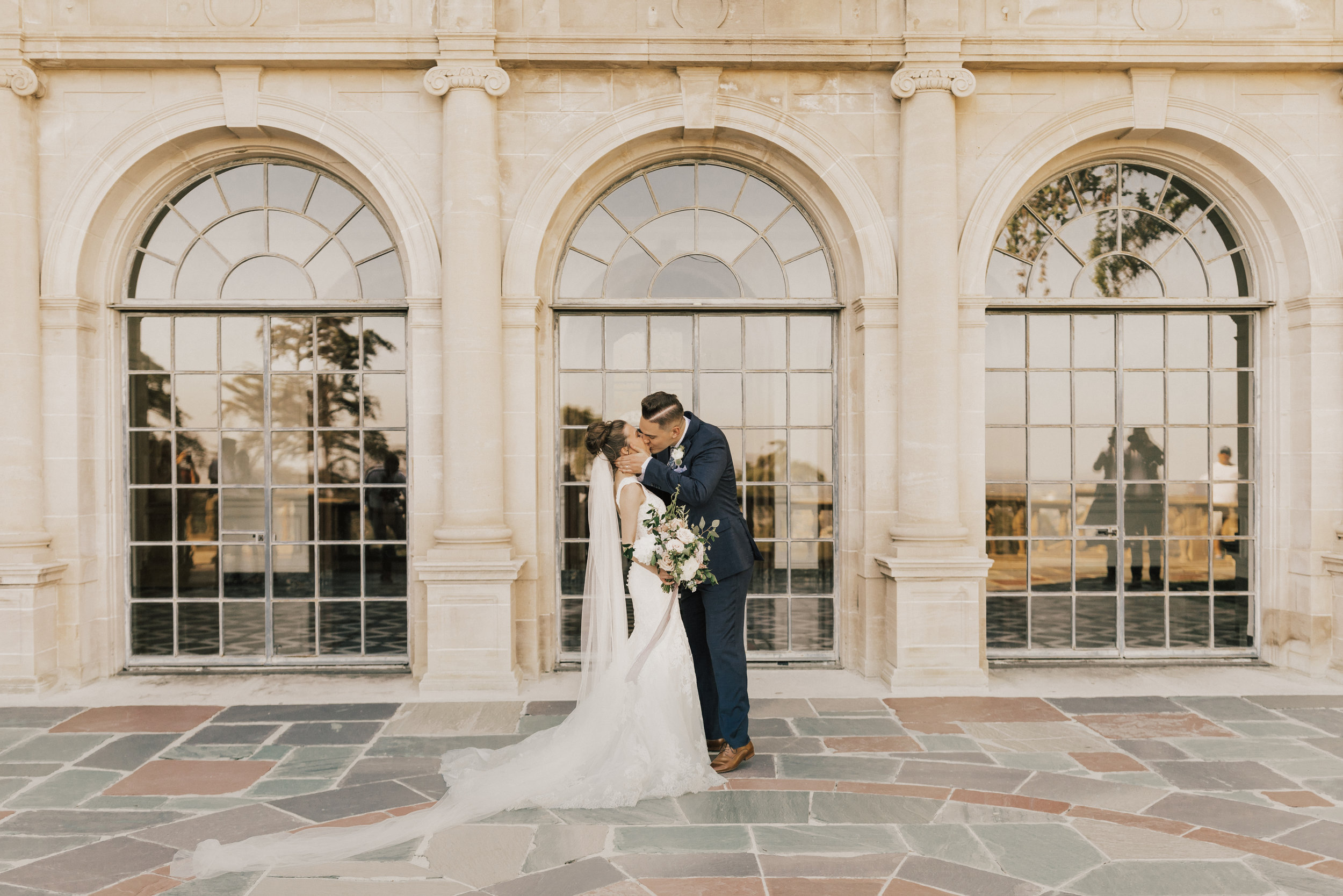 Greystone Mansion Wedding, Beverly Hills Wedding, Greystone Mansion, Mauve Bridal Bouquet