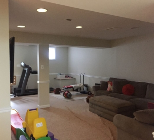 BEFORE: Family & Exercise Room