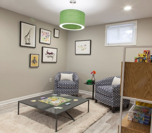 AFTER: Adult-friendly Kids' Play Area