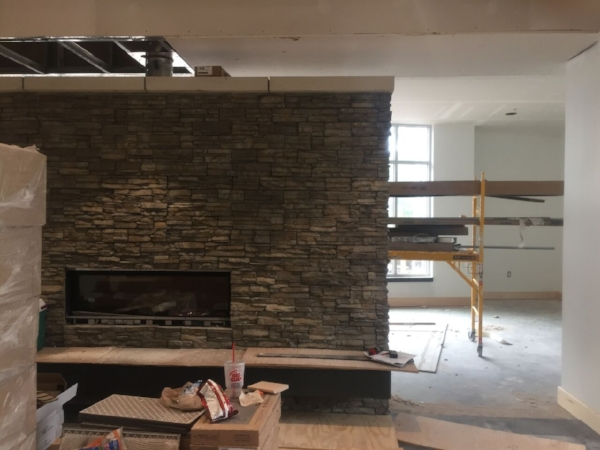 Before: 1st Floor Lounge, Fireplace Seating
