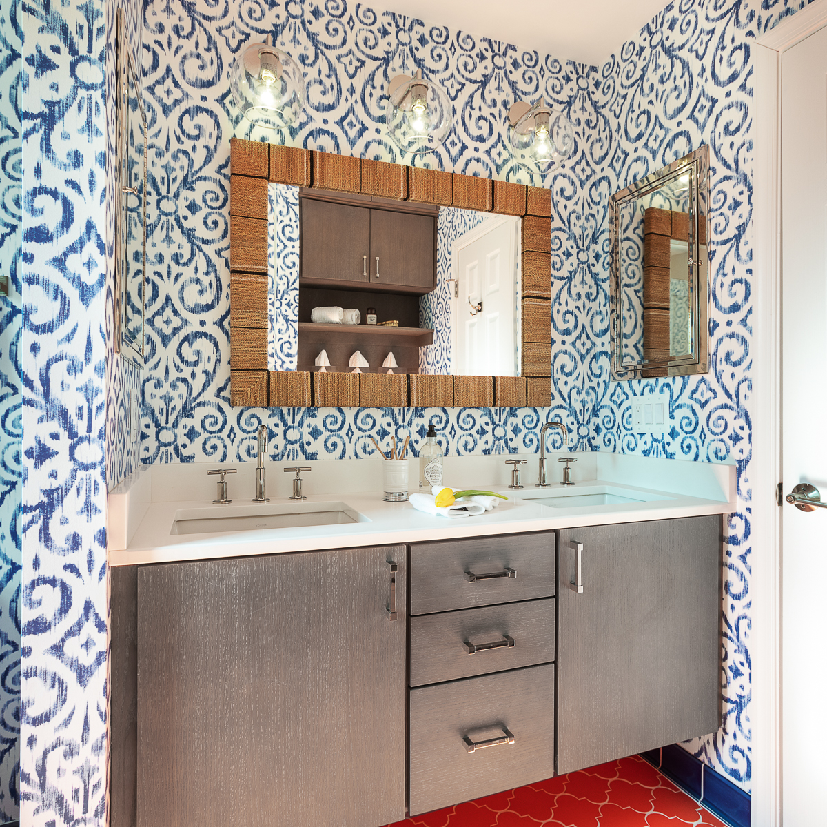 Colorful Children's Bathroom Remodel -