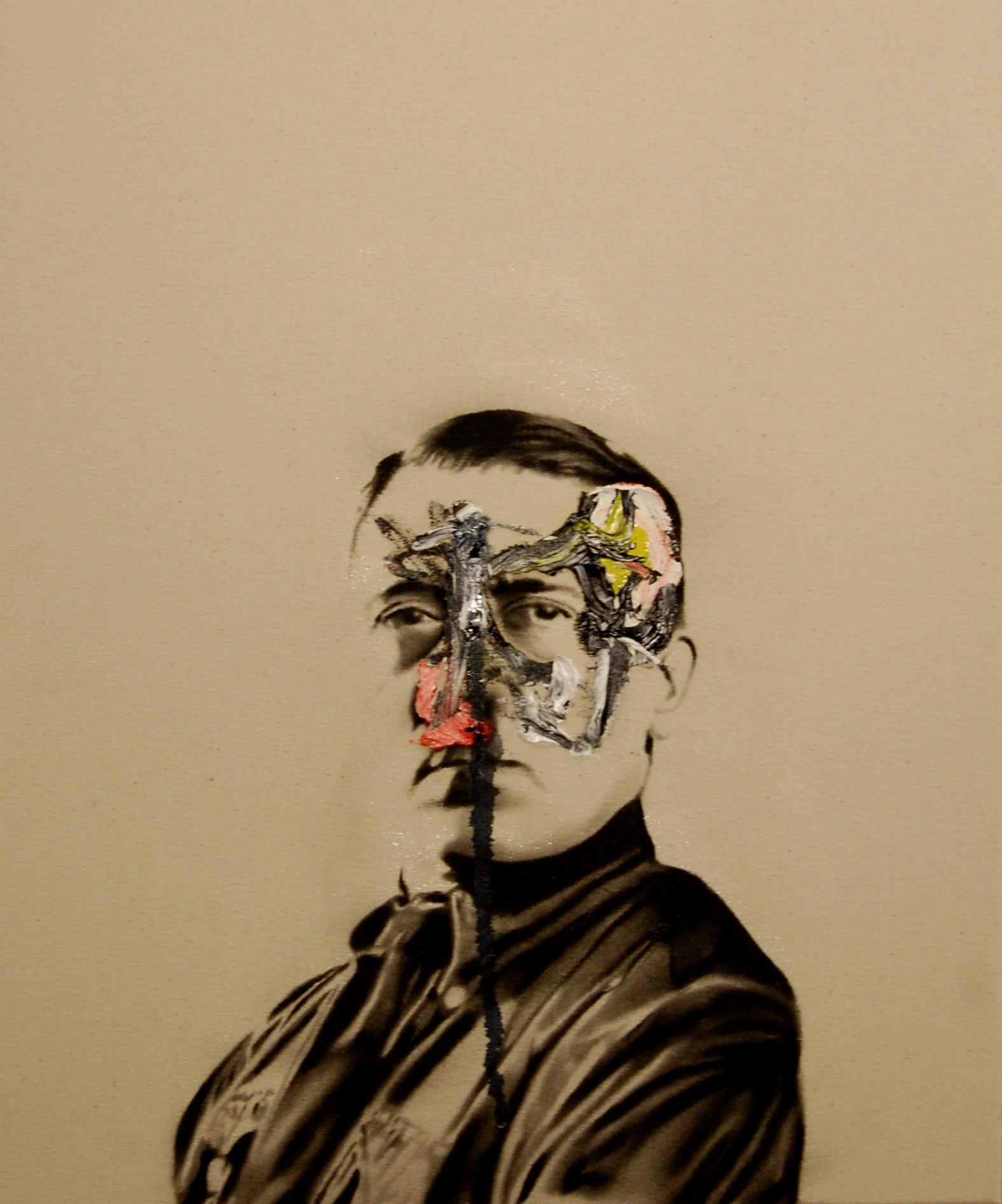 Success and failure of abstract art no.1 , 2010. Huile et fusain sur toile.