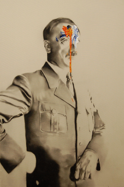Success and failure of abstract art no.2 , 2010. Huile et fusain sur toile.
