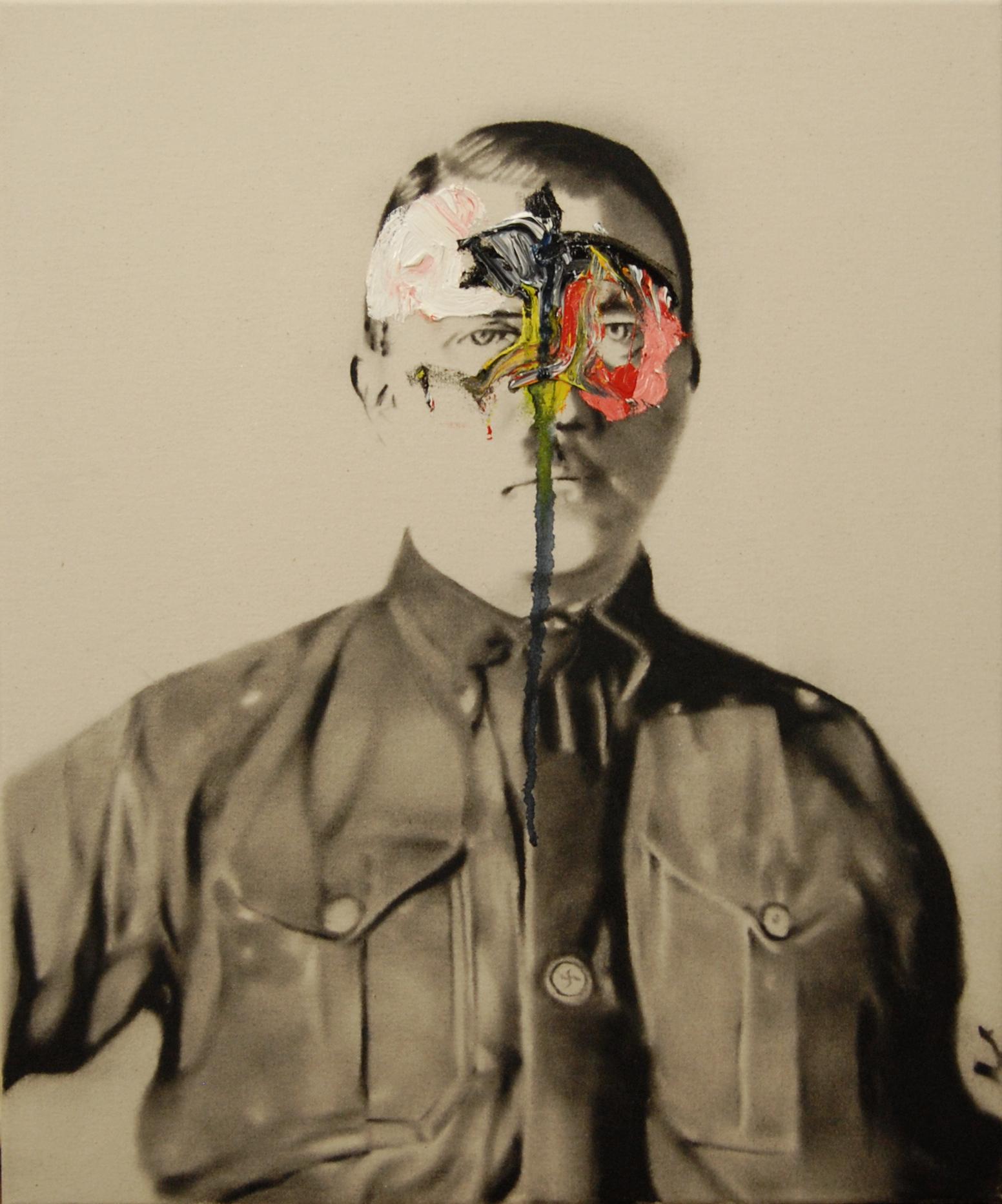 Success and failure of abstract art no.3 , 2010. Huile et fusain sur toile.