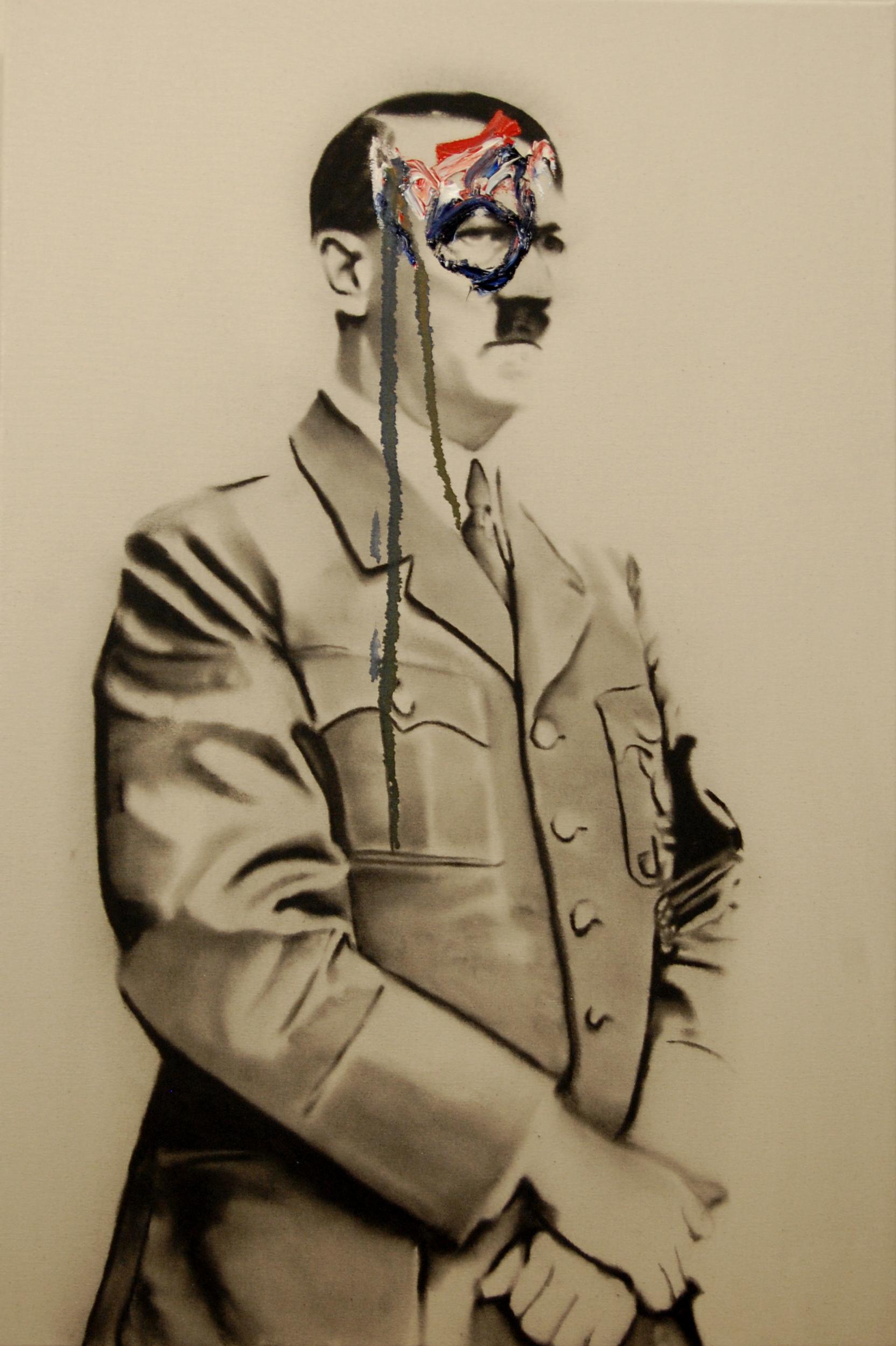 Success and failure of abstract art no.4 , 2010. Huile et fusain sur toile.
