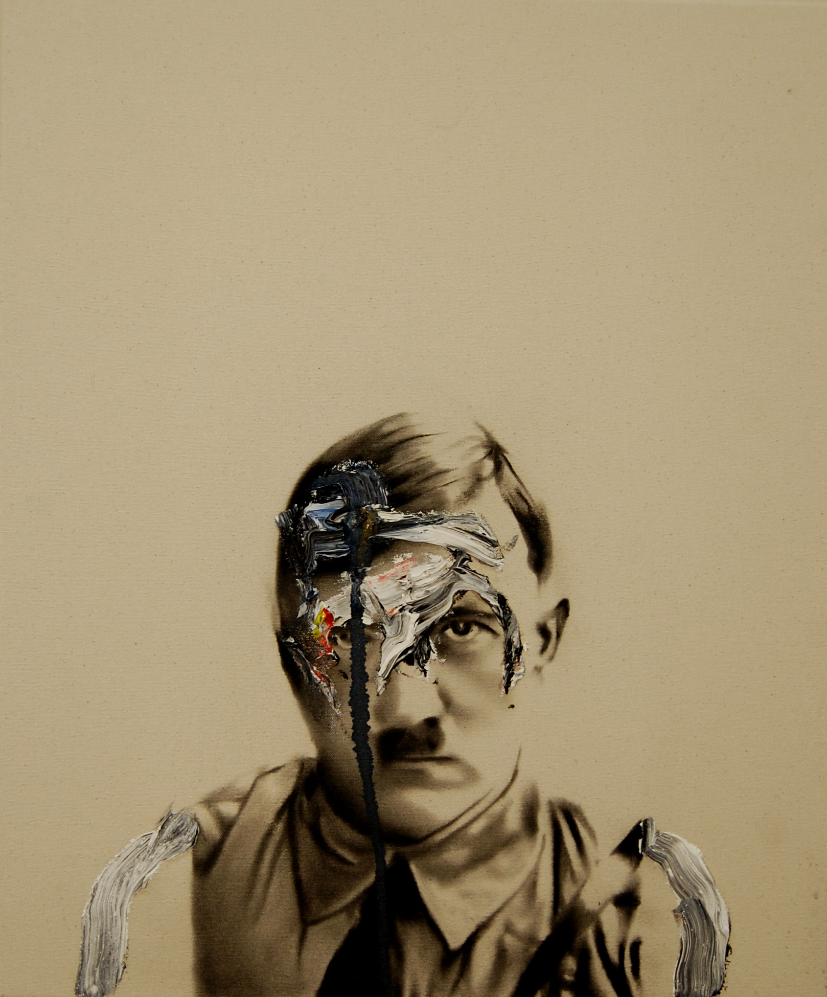 Success and failure of abstract art no.5 , 2010. Huile et fusain sur toile.