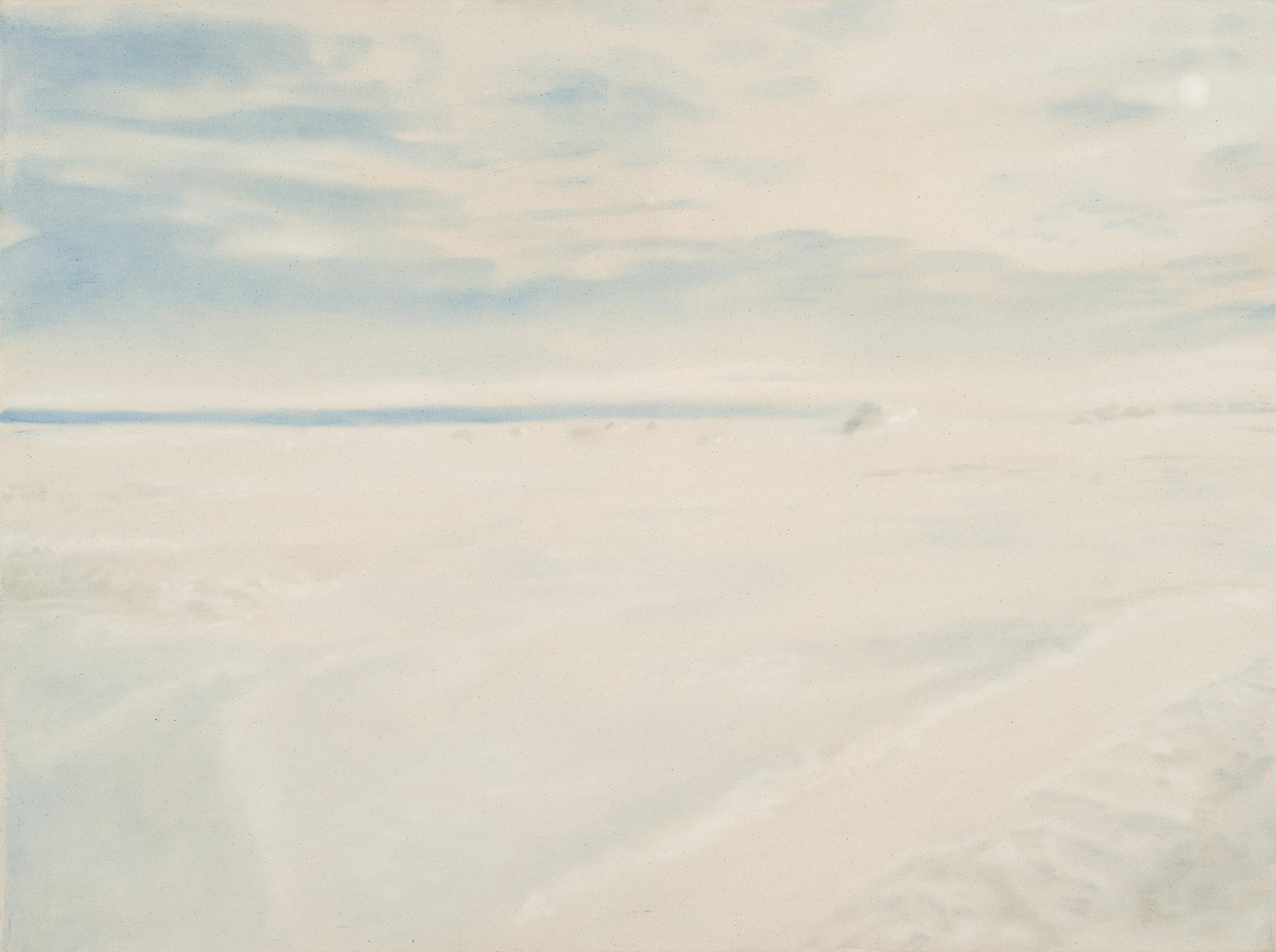 Paysage nordique 7 , 2016. Huile et fusain sur toile, 36 x 48 pouces