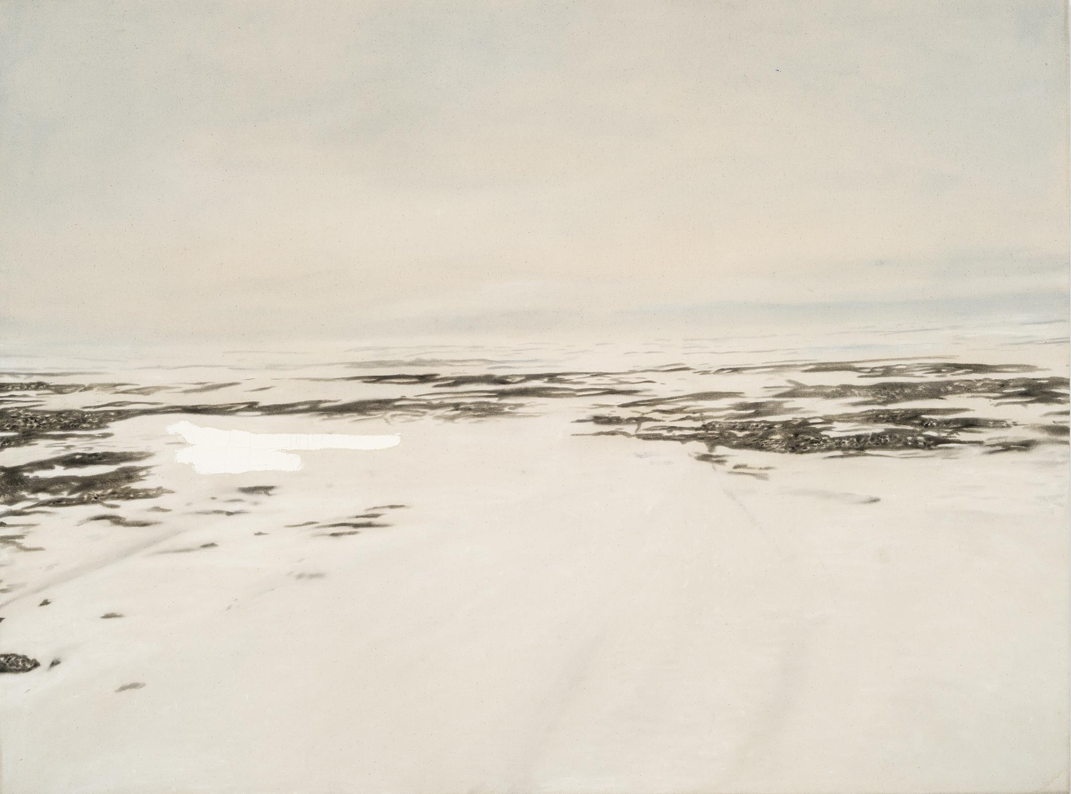 Paysage nordique 13 , 2016. Huile et fusain sur toile, 36 x 48 pouces
