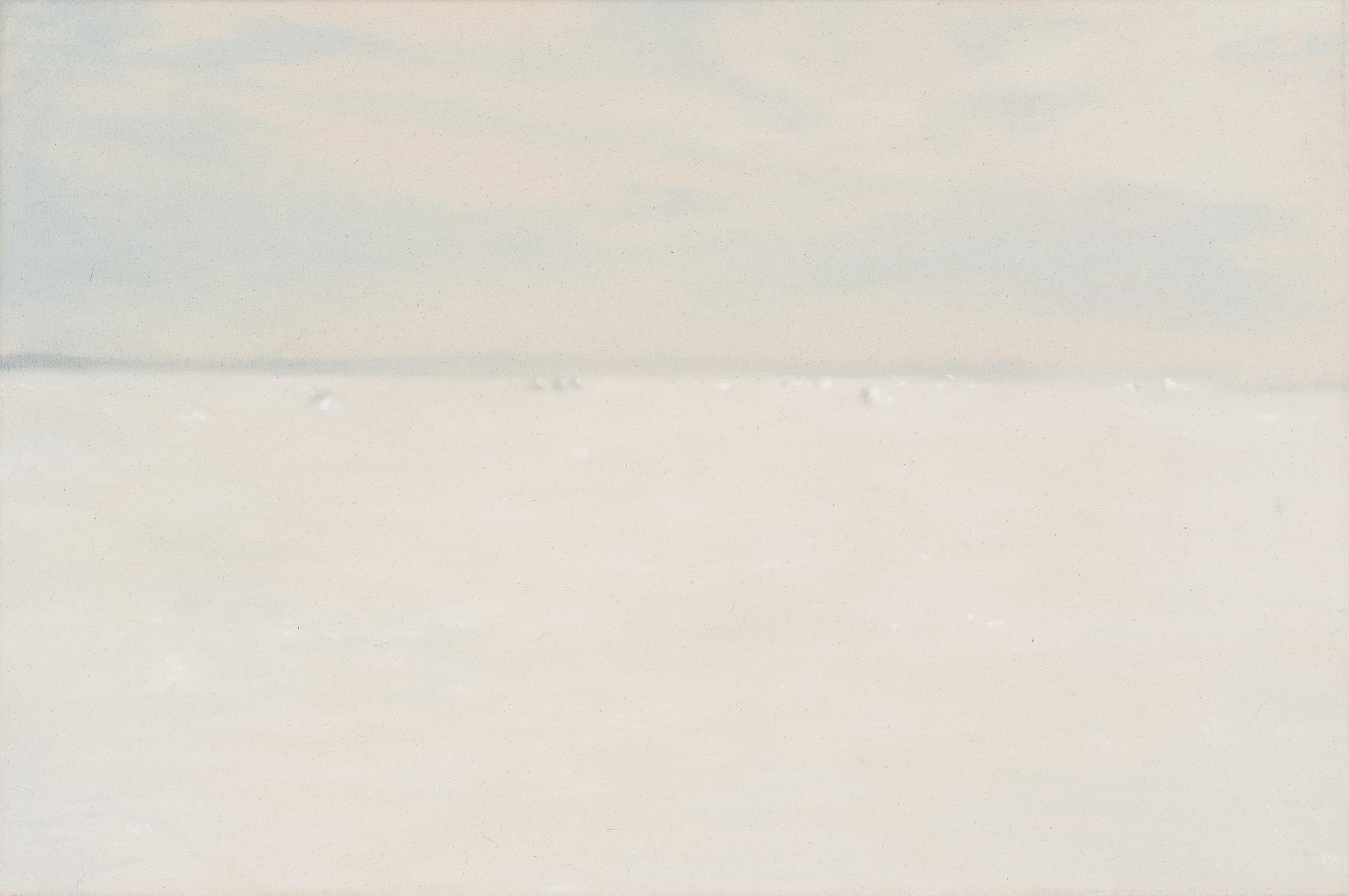 Paysage nordique 14 , 2016. Huile et fusain sur toile, 24 x 36 pouces