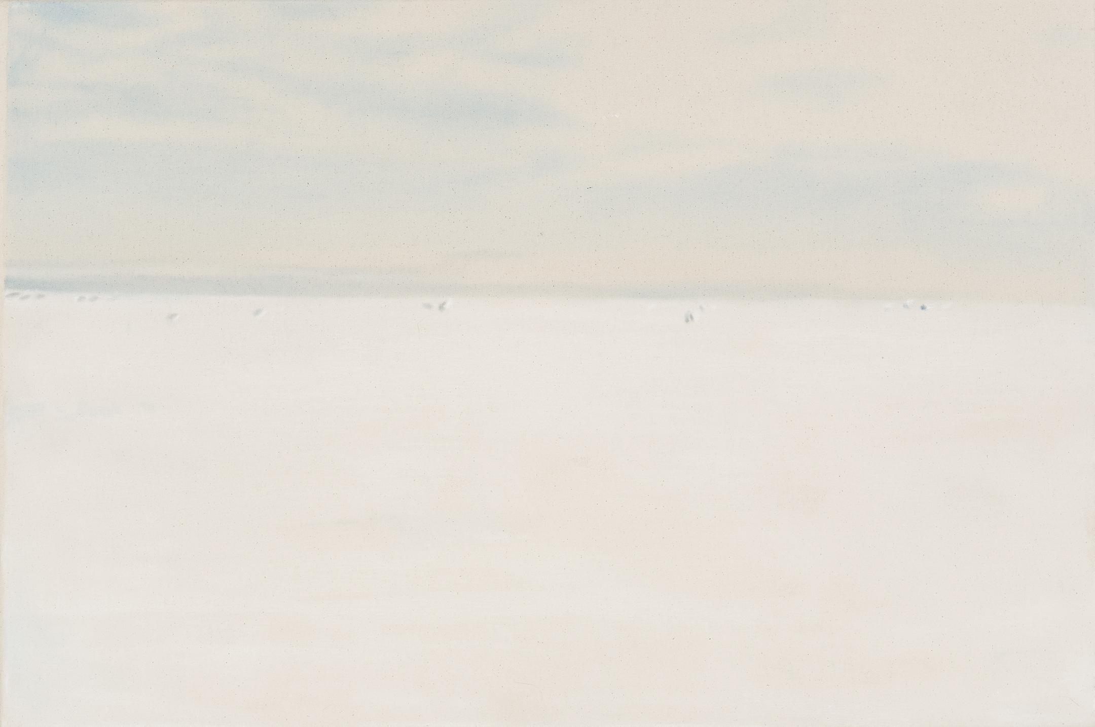 Paysage nordique 18 , 2016. Huile et fusain sur toile, 24 x 36 pouces