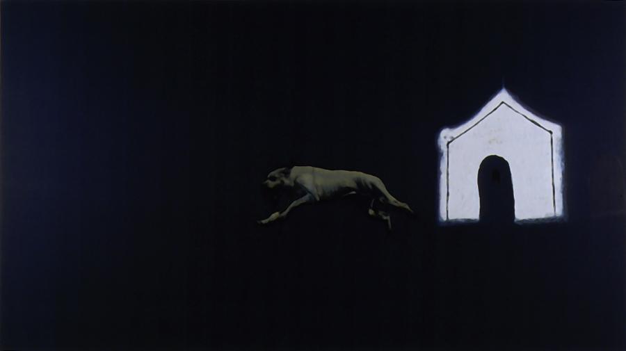 La quête , 1999. Huile sur toile.