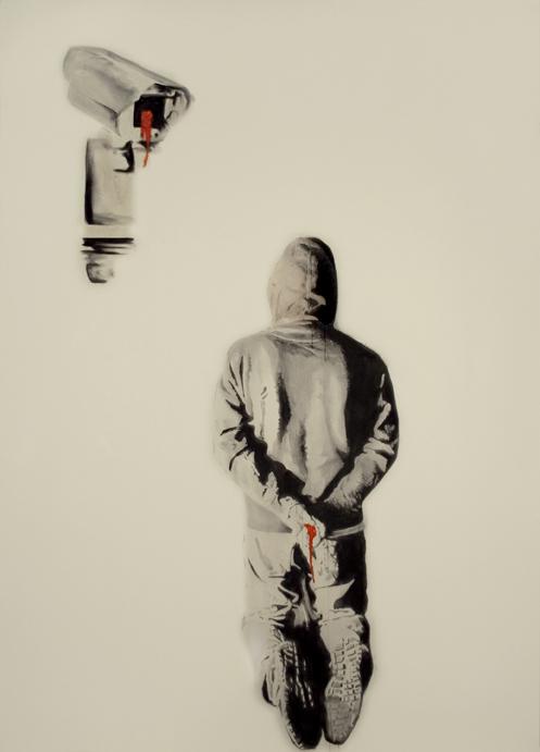 Atheist , 2007. Huile et fusain sur toile.