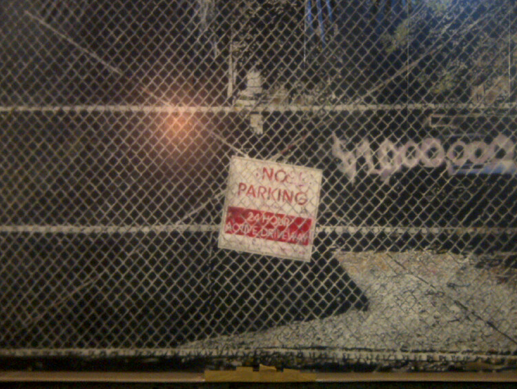 Million dollar Parking, 2012-13.Huile sur toile,48 x 72 pouces.