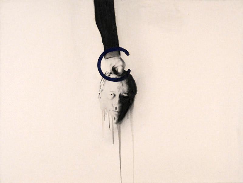 Self , 2007. Huile et fusain sur toile.
