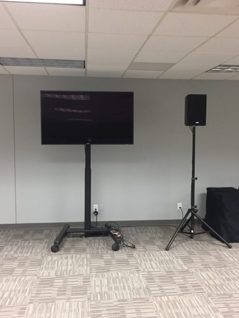 Picture of the AV for You Monitor and Powered Speaker at the Braemar Office Park Building in Edina