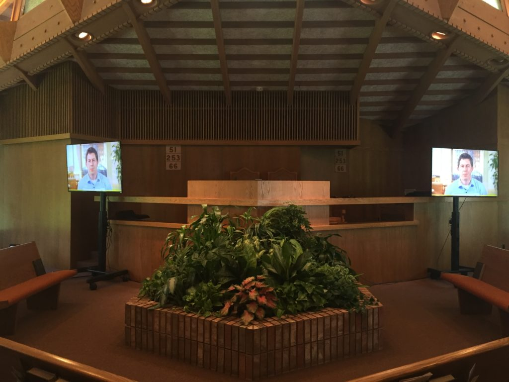 Picture of AV for You Monitors at First Church of Christ Scientist.