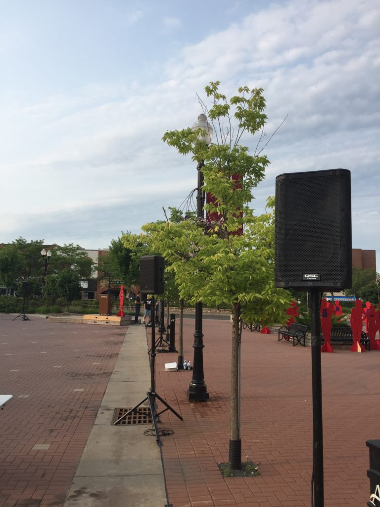 Picture of the AV for You set for Walk A Mile In Her Shoes 5K at Anoka City Hall