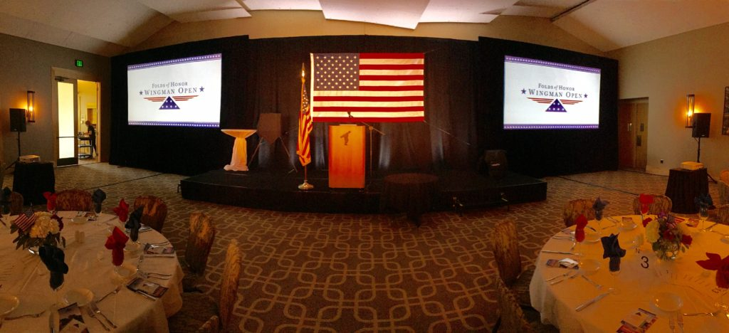 Picture of AV for You set up for Folds of Honor at Hazeltine National Golf Club