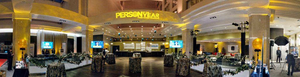Picture of AV for You set up for Person of The Year at Rad Blu