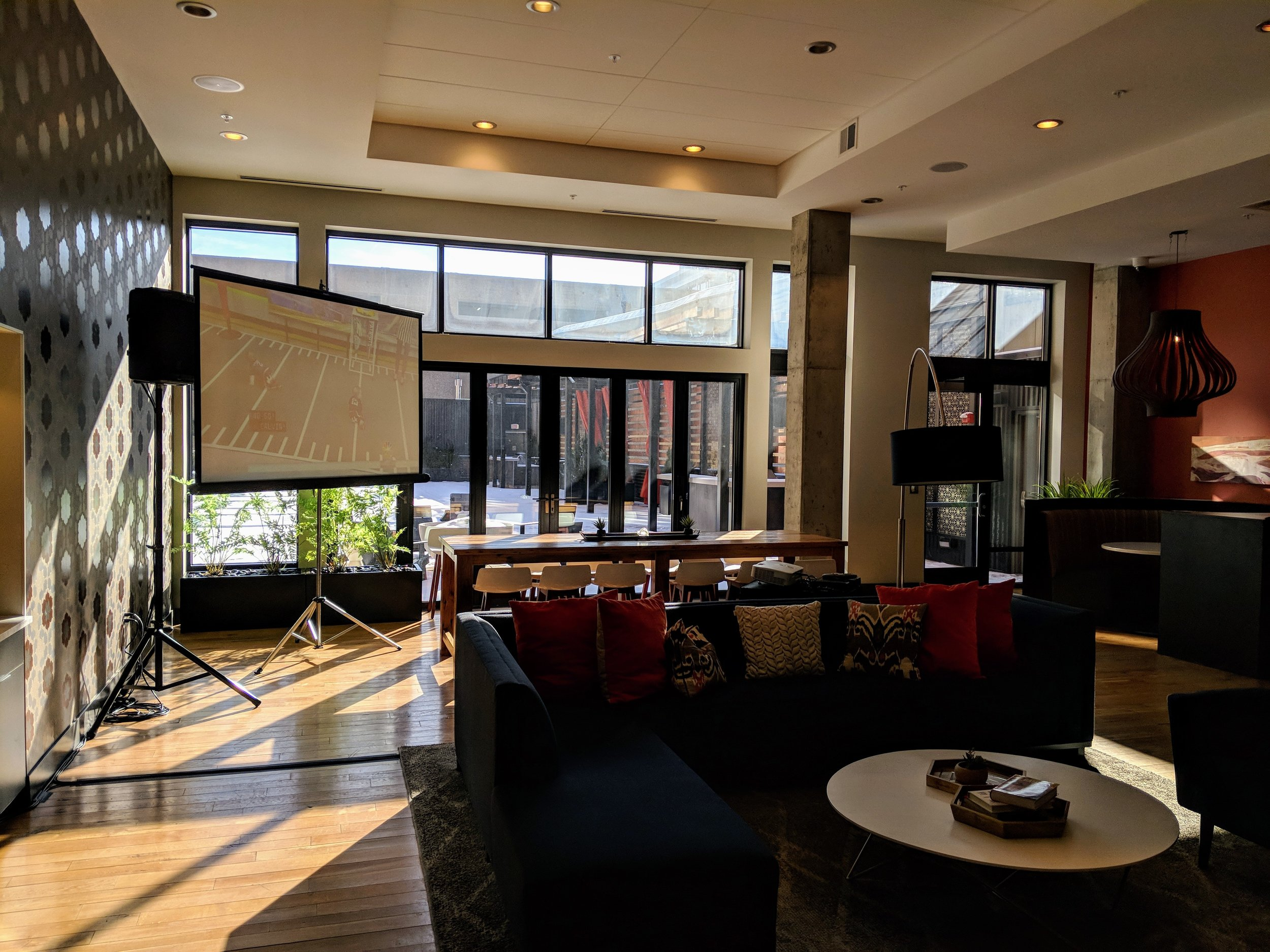 Picture of AV for You set up at Latitude 45 Apartments in Mpls.