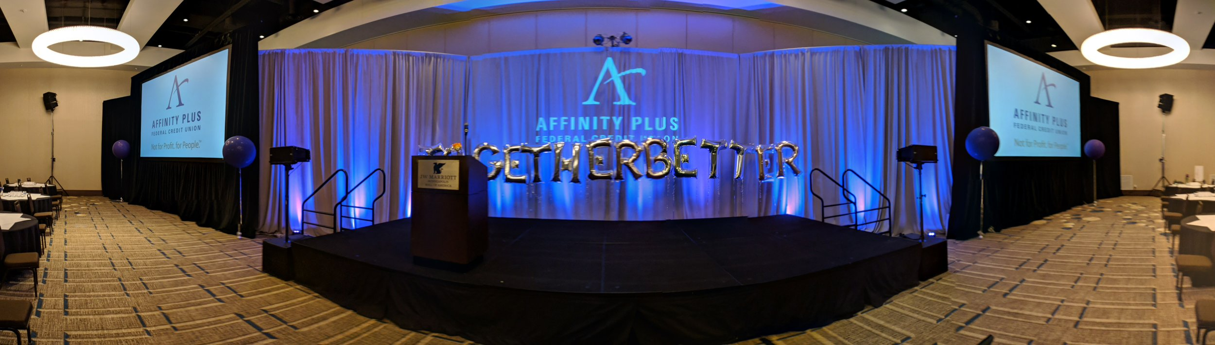 Picture of AV for You lighting rental at the JW Marriott in Bloomington, MN