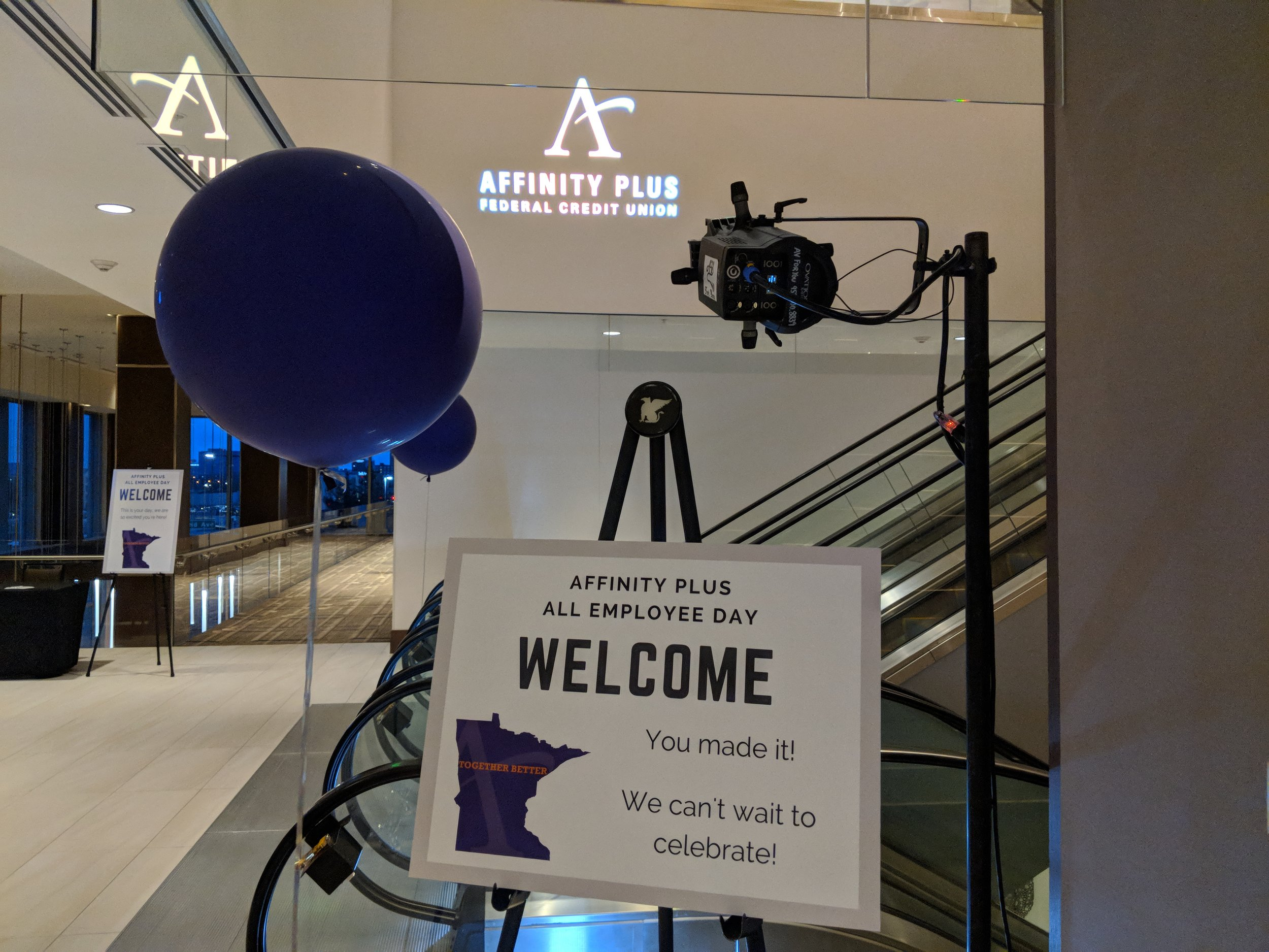 Picture of AV for You custom gobo at the JW Marriott in Bloomington, MN