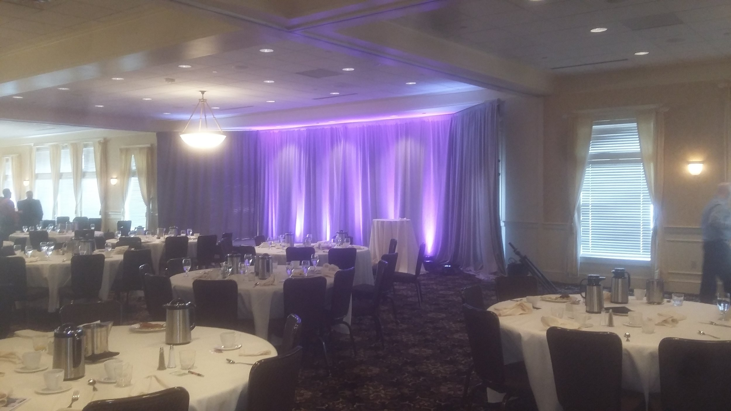 Picture of AV for You lighting rental at the Golden Valley Country Club