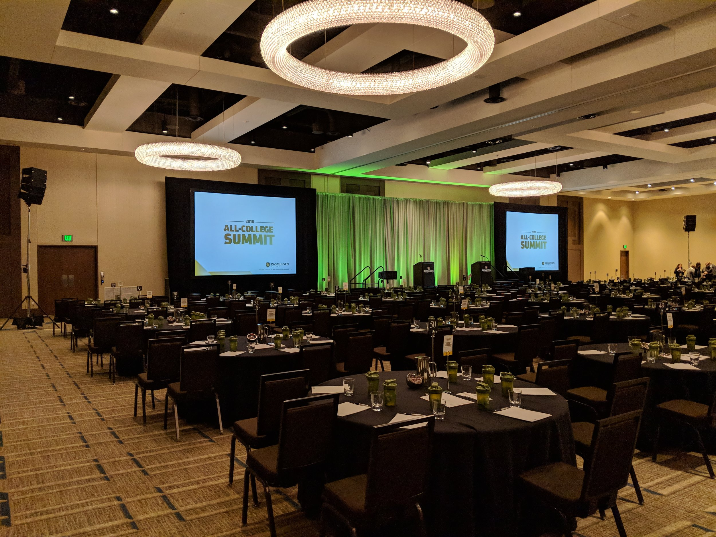 Picture of AV for You's rental gear in action at the JW Marriott in Bloomington, MN