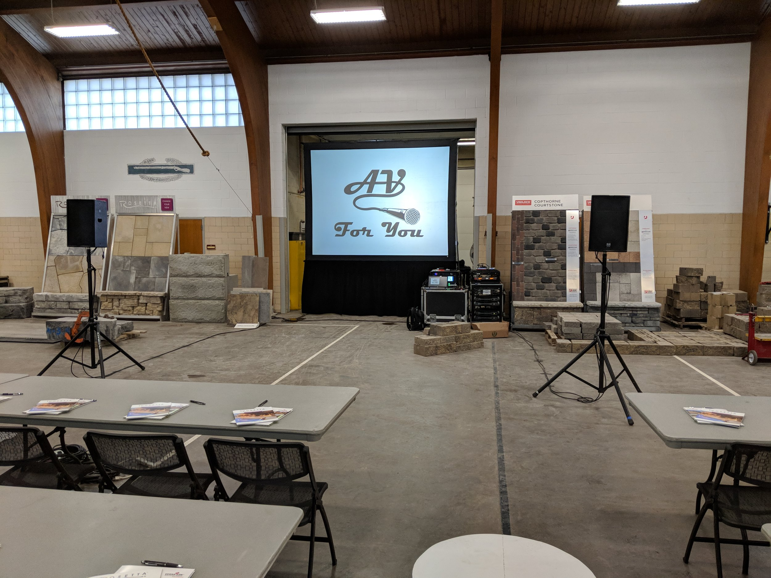 Picture of AV for You projector and screen rental at the South St Paul Armory