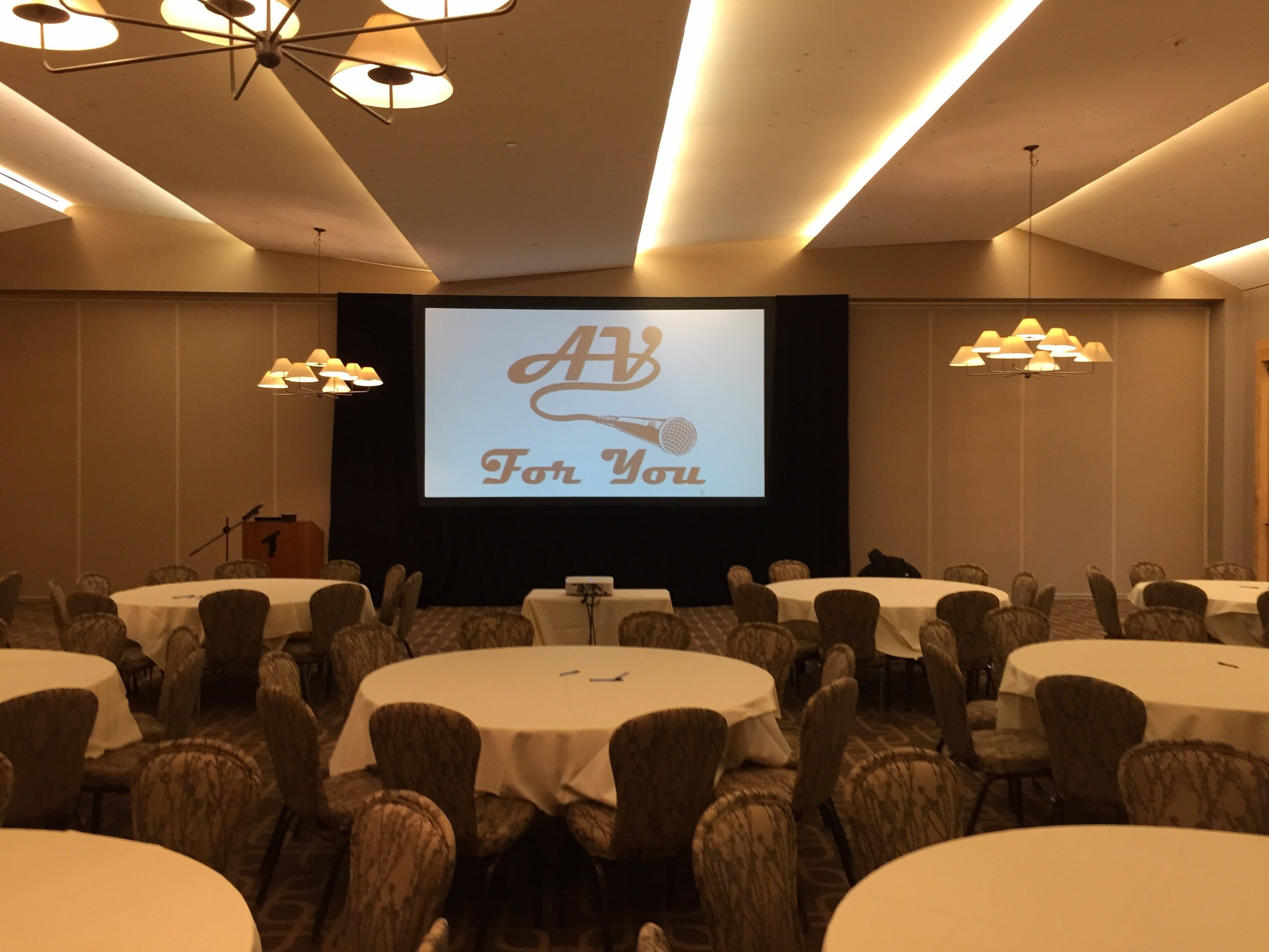 Picture of AV for You projector and screen rental at Hazeltine National Golf Club in Chaska