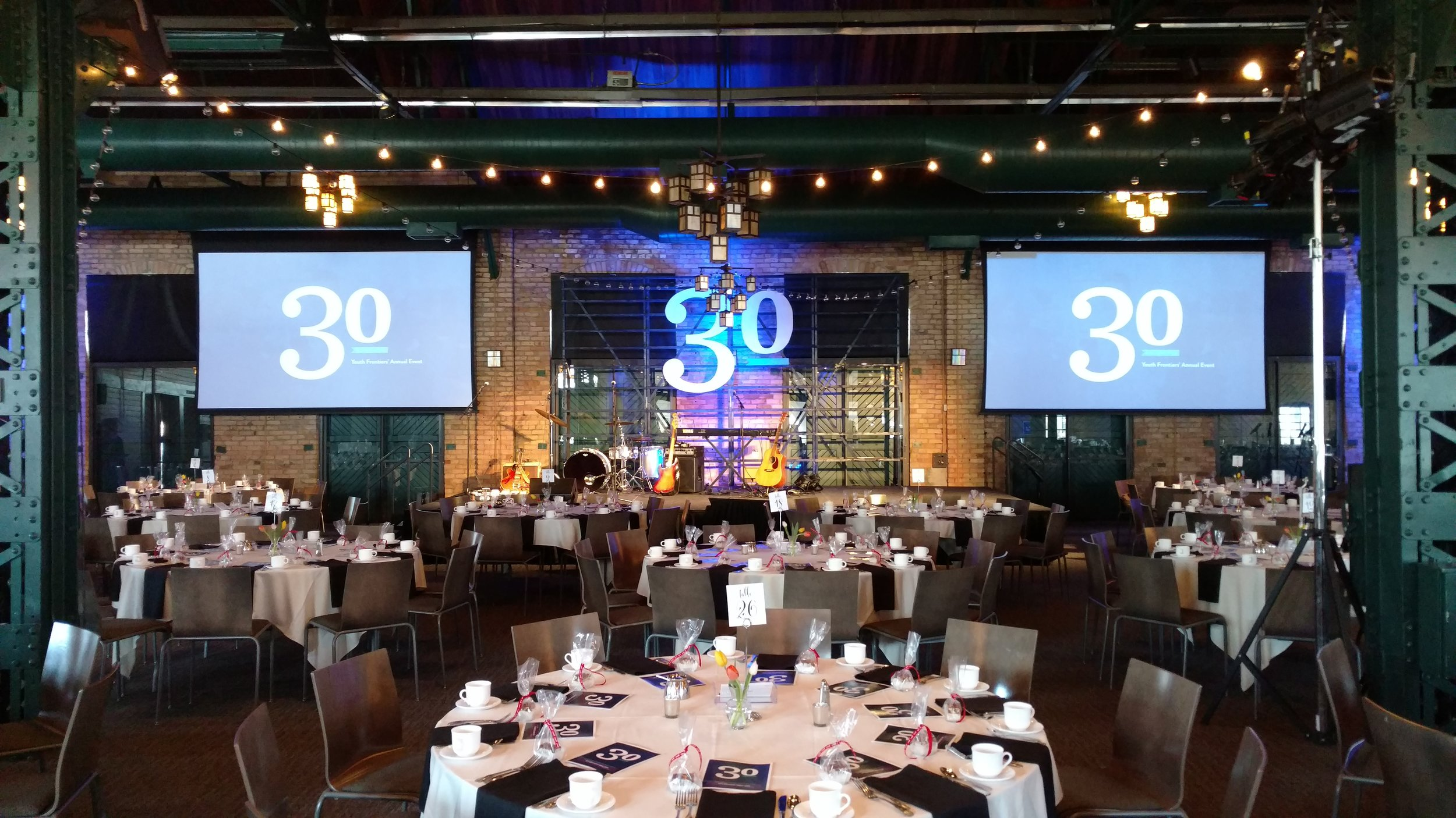 Picture of AV for You's rental equipment at Nicollet Island Pavilion in MInneapolis
