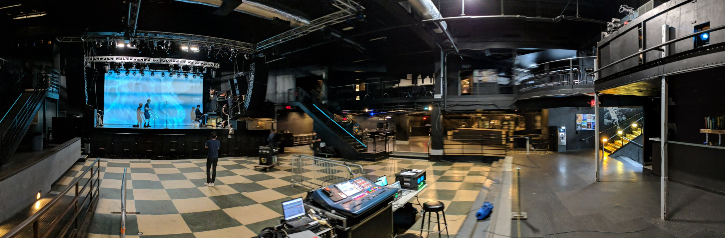Picture of AV for You projector rental for a concert at First Avenue in Minneapolis