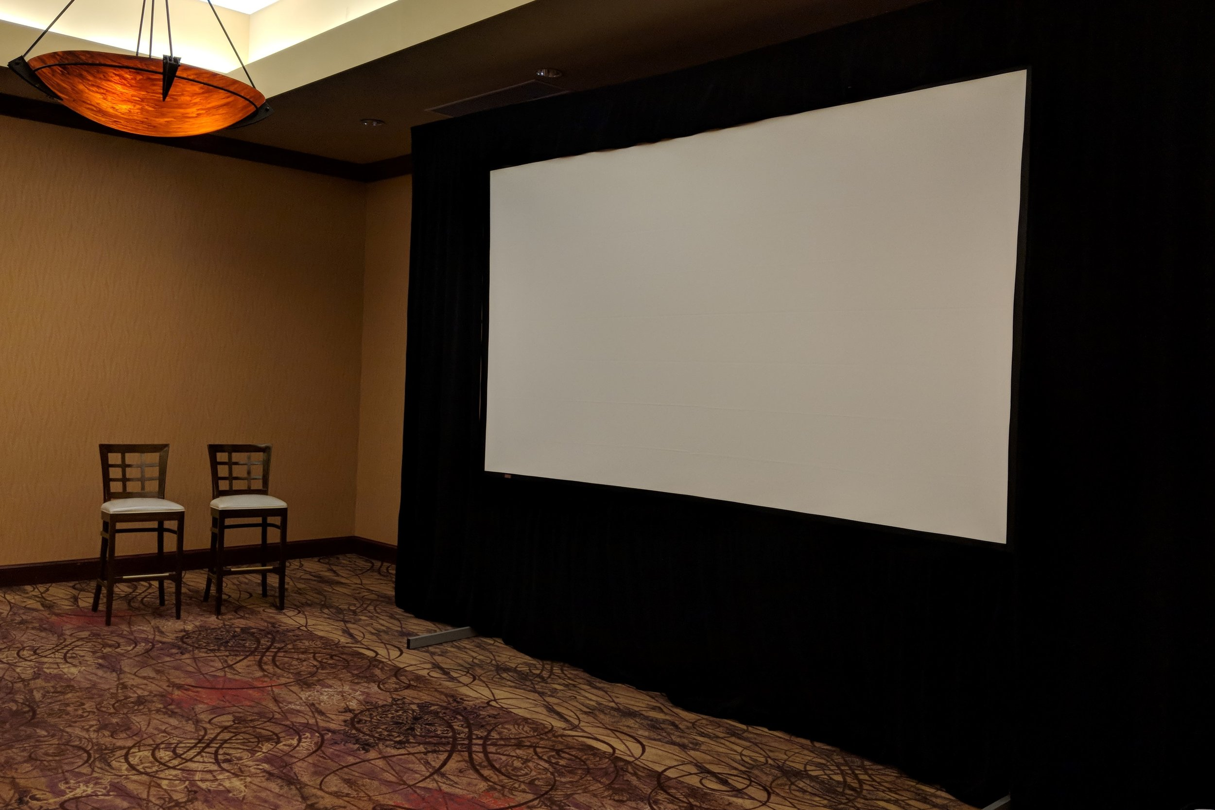 Picture of AV for You screen rental in a meeting room at the Embassy Suites, Brooklyn Center