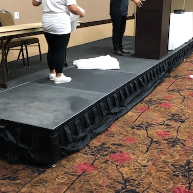 Picture of AV for You stage rental at the Best Western