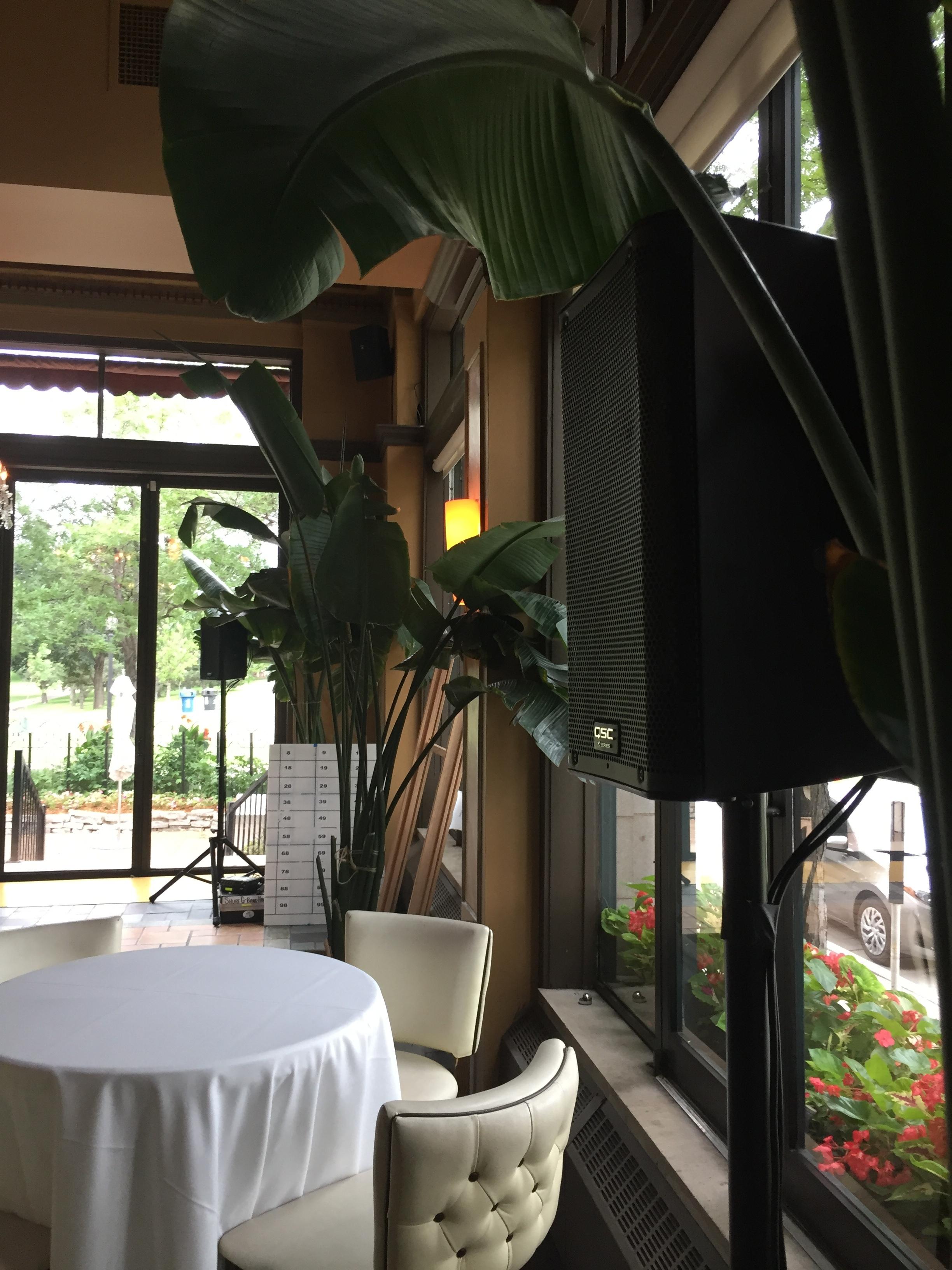 Picture of AV for You speaker rental at Cafe Lurcat in Minneapolis
